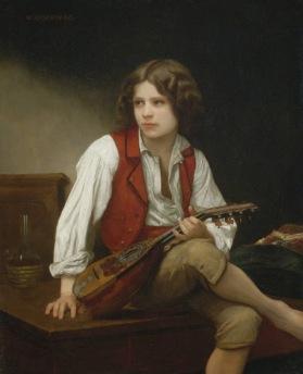 Bouguereau - el italiano a la mandolina