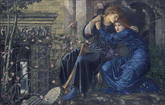 Edward Burne Jones - El amor entre las ruinas