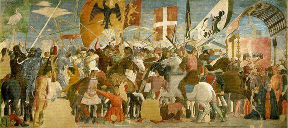Piero Della Francesca - Batalla entre Heraclios y Cosroes