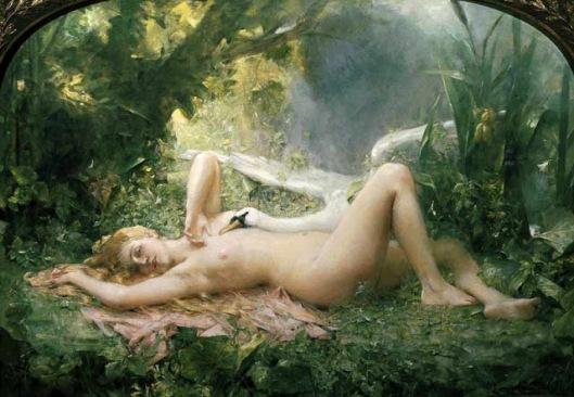León Comerre - Leda y el Cisne
