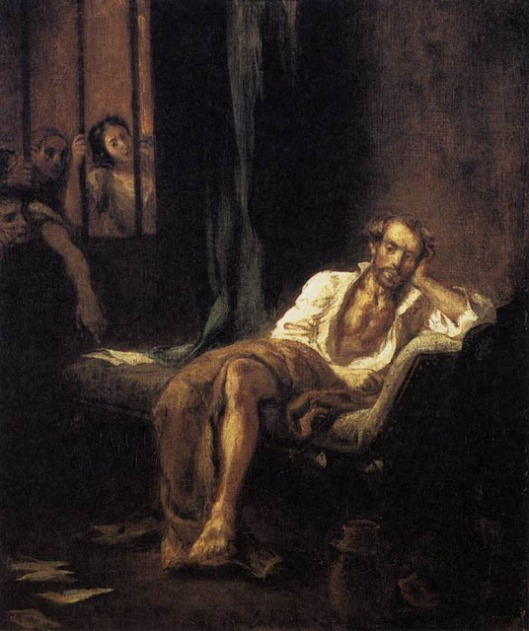 Taso en el manicomio - Delacroix