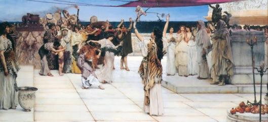 Alma Tadema - dedicación a Baco