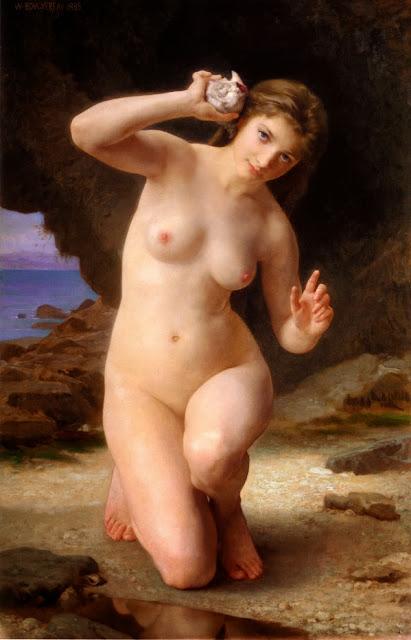 Bouguereau - mujer con concha