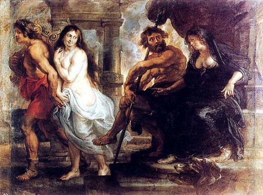 rubens - orfeo y euridice